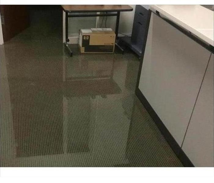 Flooded Office in Vero Beach Before