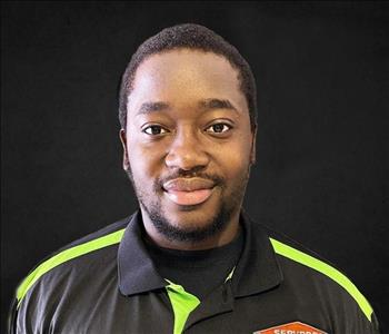 Head shot of African American man in a SERVPRO uniform