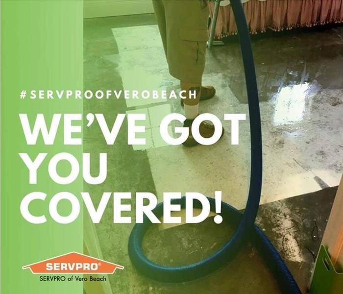 SERVPRO Production Technician Mitigating Damage
