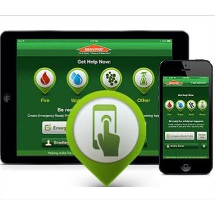 iPad and iPhone with SERVPRO's App on the Screen